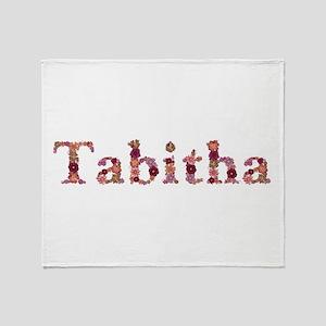 Tabitha Pink Flowers Throw Blanket