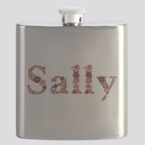 Sally Pink Flowers Flask