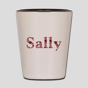 Sally Pink Flowers Shot Glass
