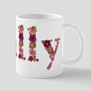 Sally Pink Flowers Mugs