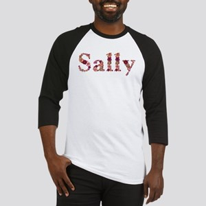 Sally Pink Flowers Baseball Jersey