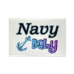 Navy Baby blue anchor Rectangle Magnet (100 pack)