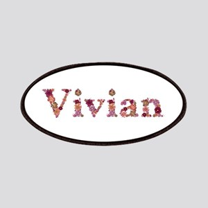 Vivian Pink Flowers Patch