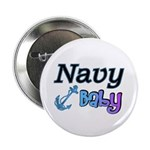 Navy Baby blue anchor Button