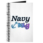 Navy Baby blue anchor Journal