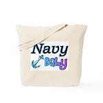 Navy Baby blue anchor  Tote Bag