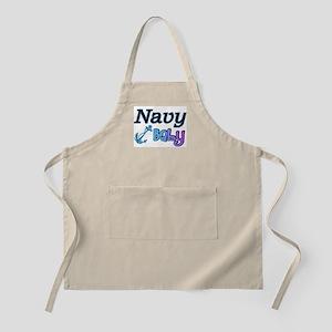 Navy Baby blue anchor BBQ Apron