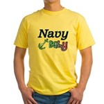 Navy Baby blue anchor Yellow T-Shirt