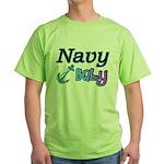 Navy Baby blue anchor Green T-Shirt