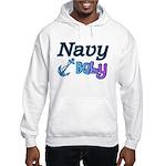 Navy Baby blue anchor Hooded Sweatshirt