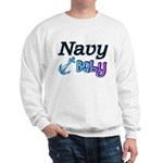 Navy Baby blue anchor Sweatshirt
