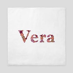 Vera Pink Flowers Queen Duvet
