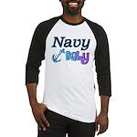 Navy Baby blue anchor Baseball Jersey