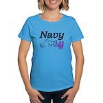 Navy Baby blue anchor Women's Dark T-Shirt
