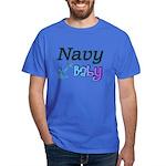 Navy Baby blue anchor Dark T-Shirt