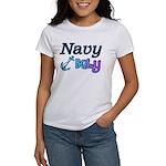 Navy Baby blue anchor Women's T-Shirt