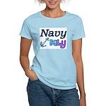 Navy Baby blue anchor Women's Light T-Shirt