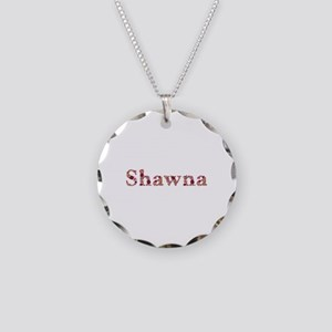 Shawna Pink Flowers Necklace Circle Charm
