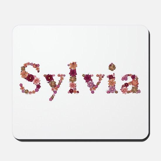 Sylvia Pink Flowers Mousepad