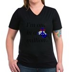 One in a Million Women's V-Neck Dark T-Shirt