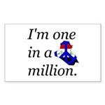One in a Million Rectangle Sticker