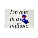 One in a Million Rectangle Magnet