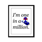 One in a Million Framed Panel Print