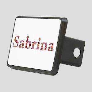 Sabrina Pink Flowers Rectangular Hitch Cover