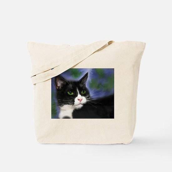 Funny Tuxedo cat Tote Bag