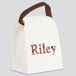 Riley Pink Flowers Canvas Lunch Bag
