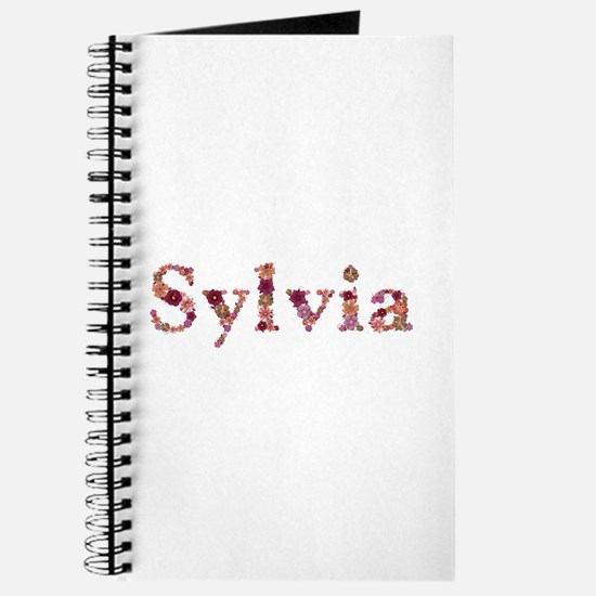 Sylvia Pink Flowers Journal