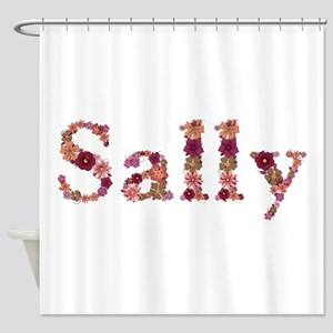 Sally Pink Flowers Shower Curtain