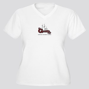 The Griddle Cafe Women's Plus Size V-Neck T-Shirt