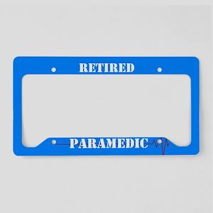 Retired Paramedic License Plate Holder