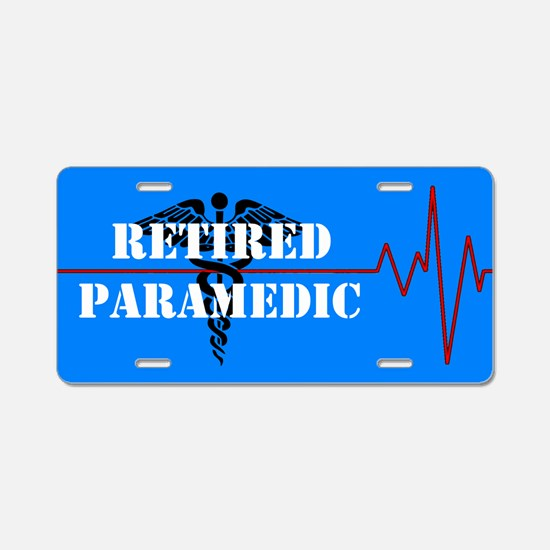 Retired Paramedic Aluminum License Plate