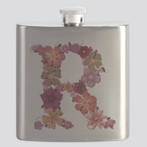 R Pink Flowers Flask