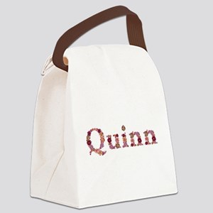 Quinn Pink Flowers Canvas Lunch Bag