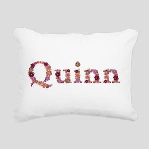 Quinn Pink Flowers Rectangular Canvas Pillow