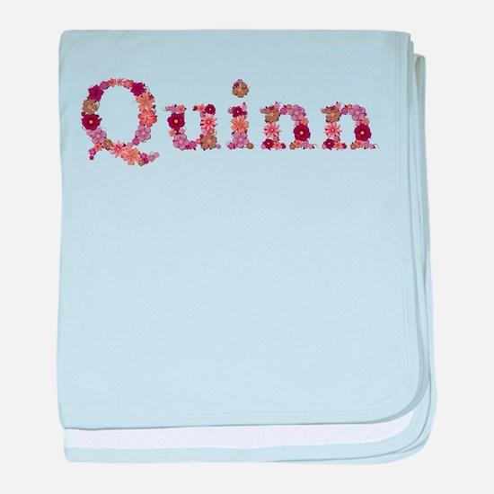 Quinn Pink Flowers baby blanket