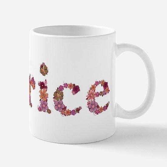 Patrice Pink Flowers Mugs