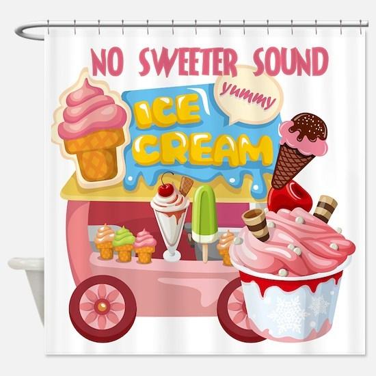 The Ice Cream Truck Shower Curtain