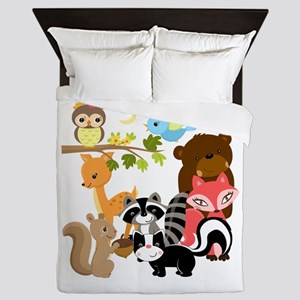 Forest Friends Queen Duvet