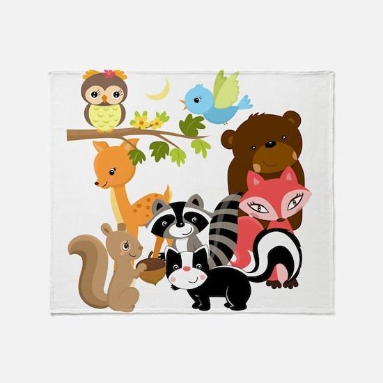 Forest Friends Throw Blanket