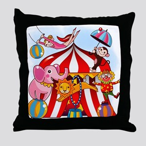 The Circus is in Town Throw Pillow