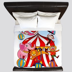 The Circus Is In Town King Duvet