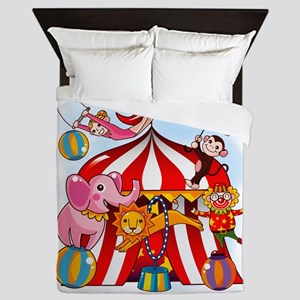 The Circus Is In Town Queen Duvet