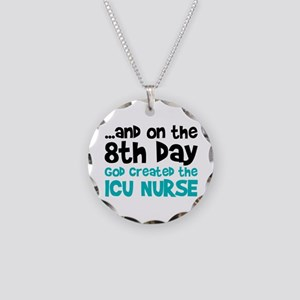 ICU Nurse Creation Necklace Circle Charm