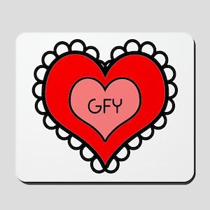 GFY Heart Mousepad