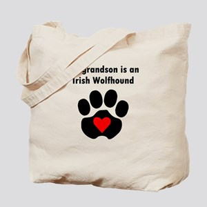 My Grandson Is An Irish Wolfhound Tote Bag