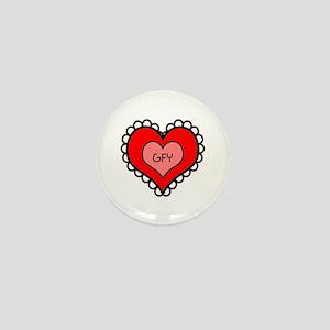 GFY Heart Mini Button